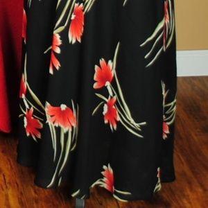 Positive Attitude Dresses - Positive Attitude Maxi Black Dress w/ Floral